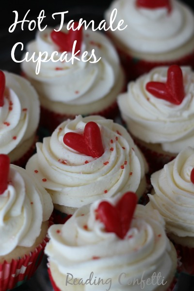 hot tamale cupcakes for valentine's day parties