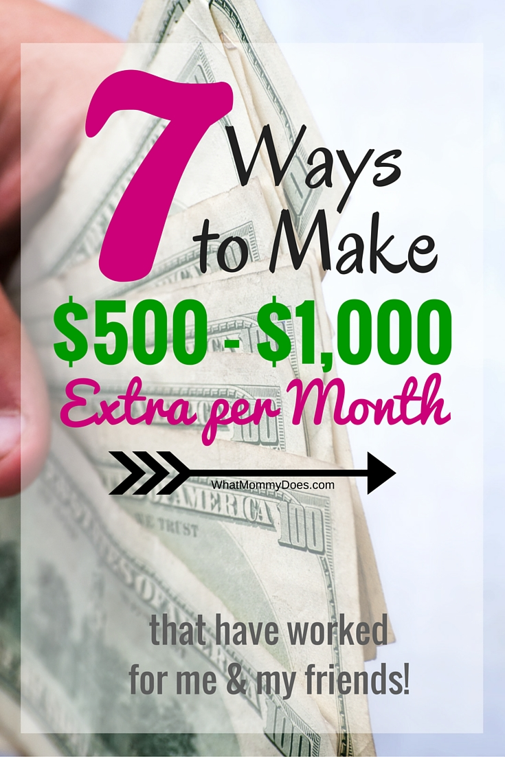 7 Ways To Make 1000 Extra Per Month