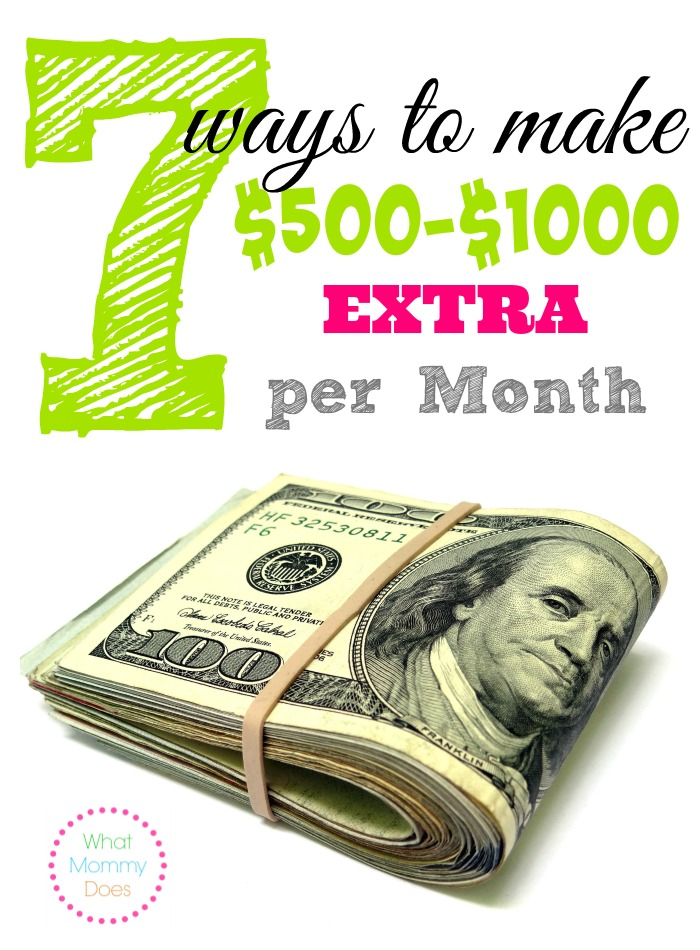 7 Ways to Make 500-1000 Extra Per Month