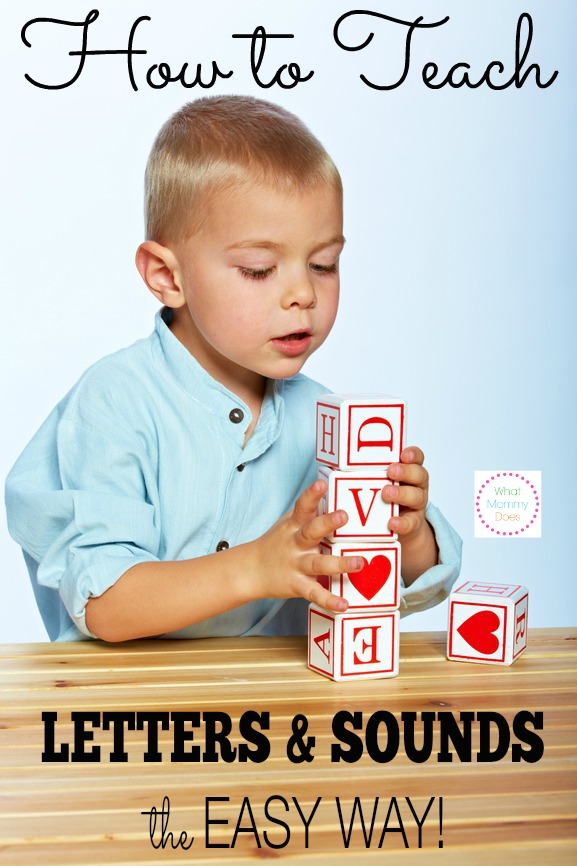 the easiest way to teach kids their letters
