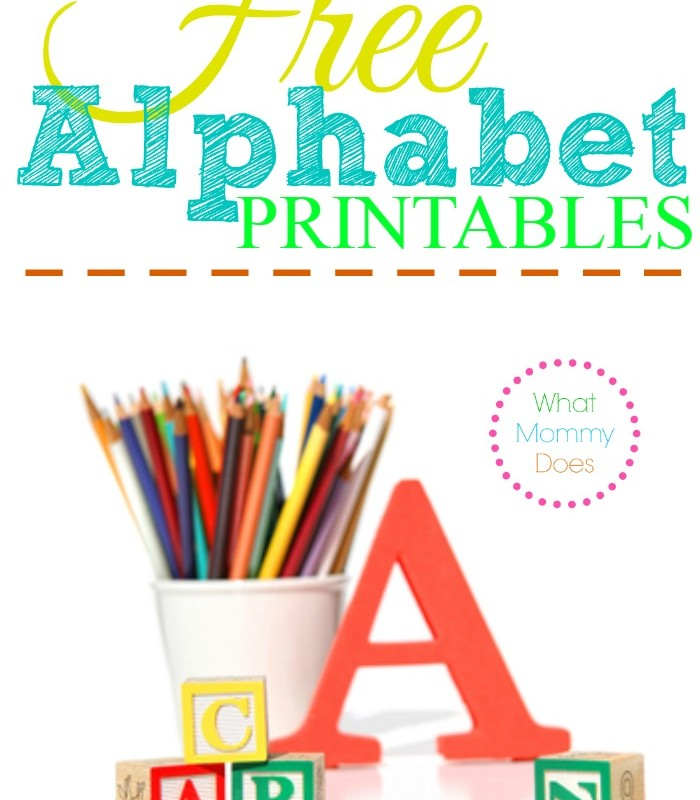Free Alphabet Printables – Letters, Worksheets, Stencils & ABC Flash Cards