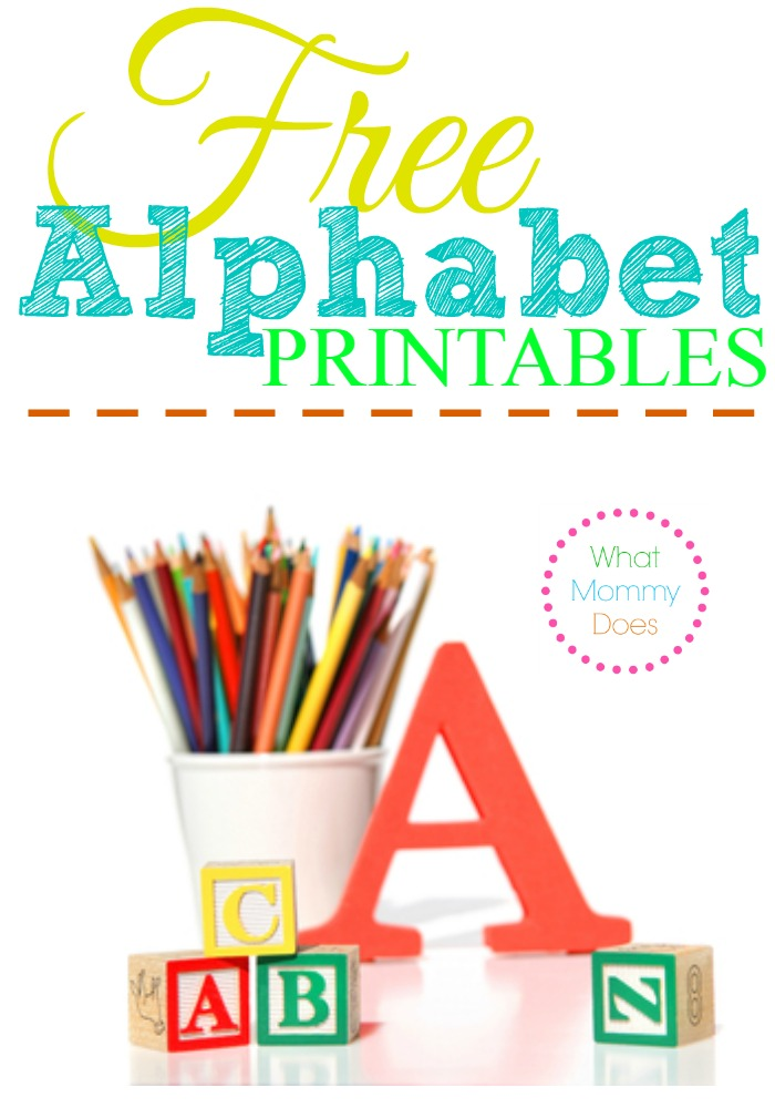 Free Alphabet Printables – Letters, Worksheets, Stencils & ABC ...