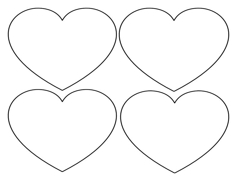 Шаблоны сердца для вырезания из бумаги распечатать формат а4, картинки