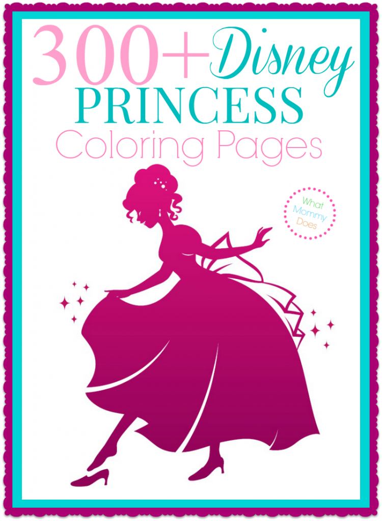 300 Free Printable Disney Princess Coloring Pages