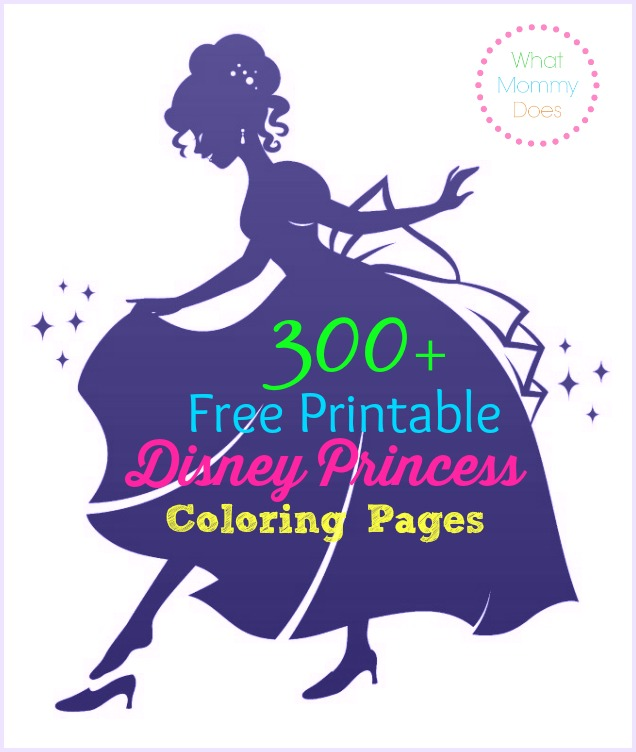 300+ Free Printable Disney Princess Coloring Pages To Print Out