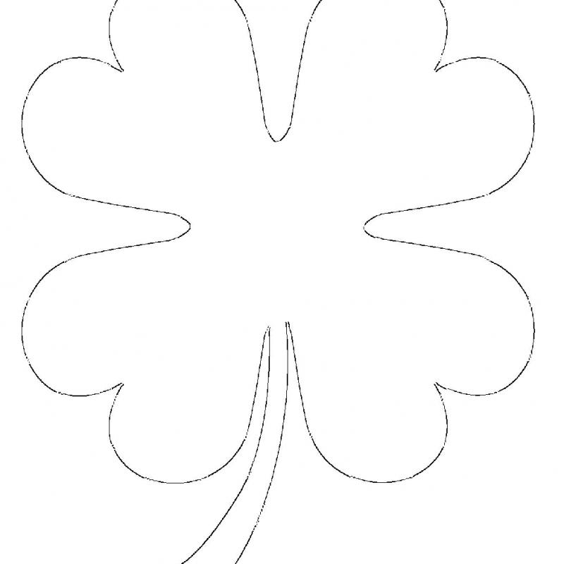 printable 4 leaf clover template