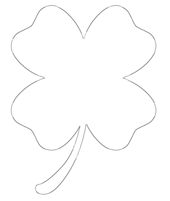 graphic relating to Shamrock Stencil Printable referred to as Cost-free Printable 4 Leaf Clover Templates Superior Low
