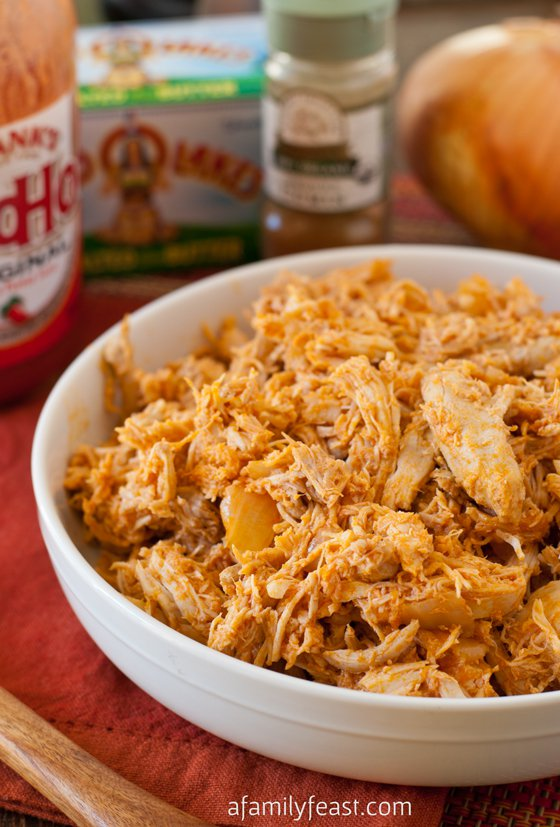 buffalo-pulled-chicken-slow cooker