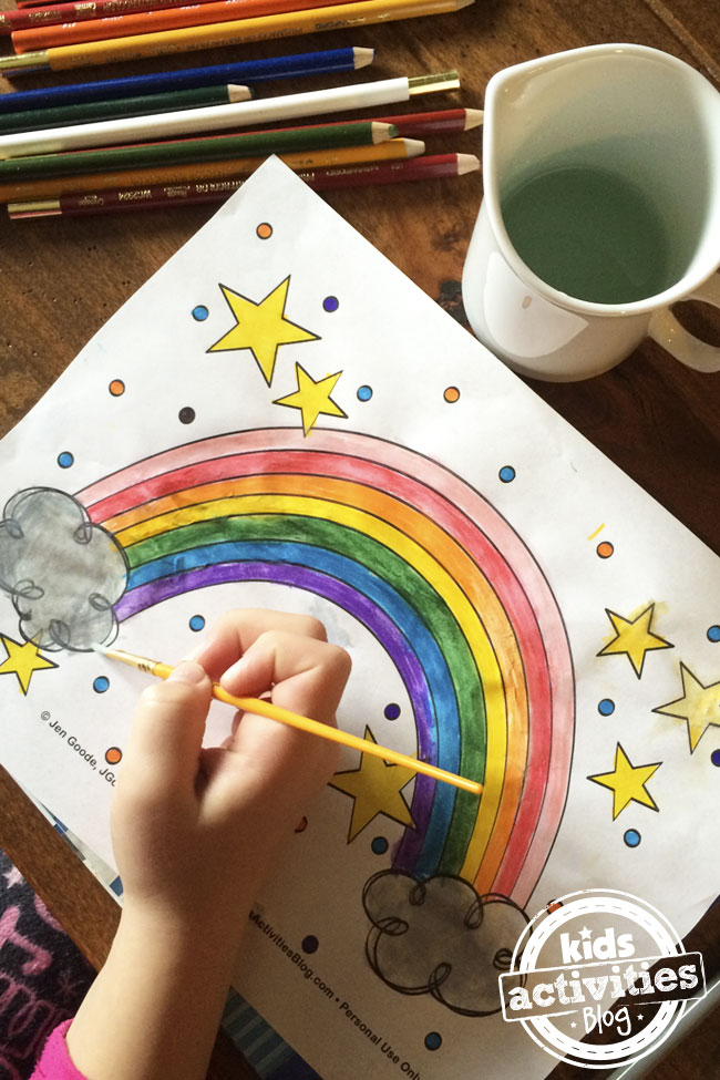 Free Rainbow Printables Coloring