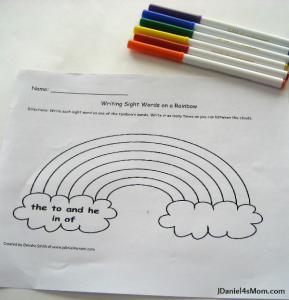 worksheet_for_kindergarten_word_writing_rainbow_worksheet-289x300
