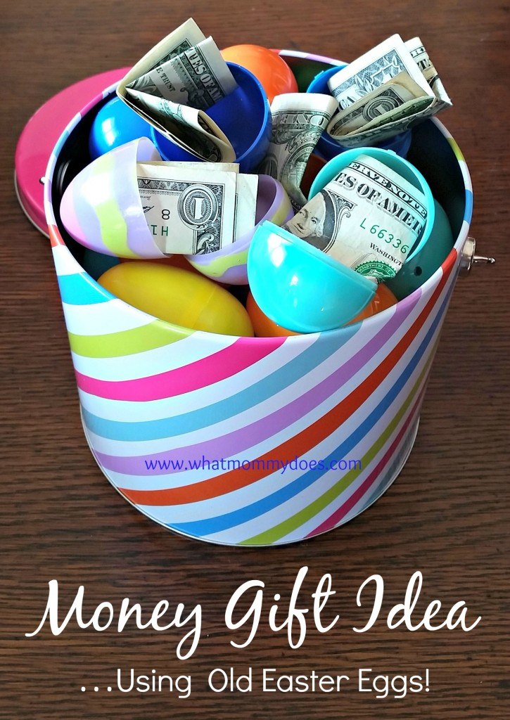 Bucket full of money filled easter eggs a cute money gift idea cute money gift idea easter basket money negle Images