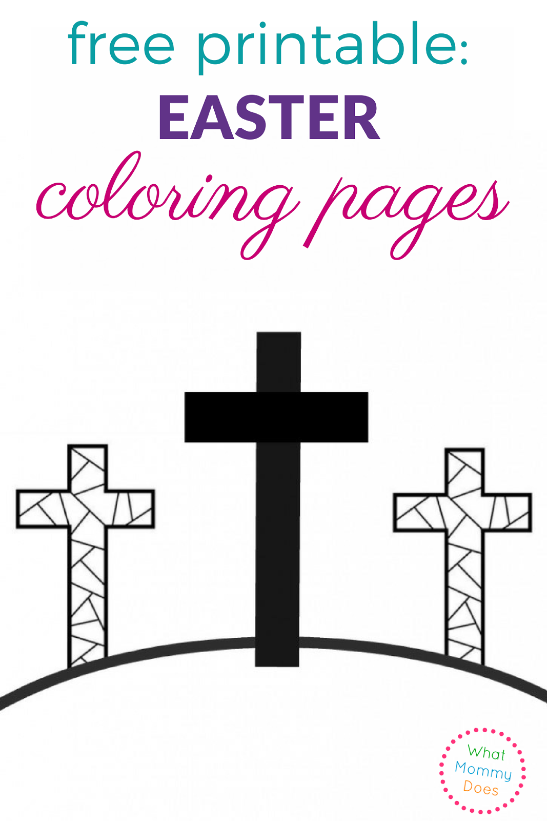 Printable coloring pages religious items - Free Printable Easter Coloring Pages