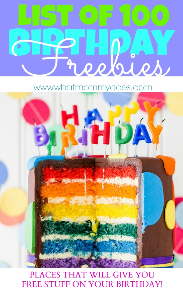 List of 100 Birthday Freebies - Restaurants that will give you free stuff on your birthday
