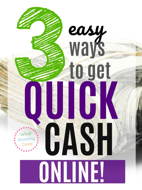 …a few super simple ways to get fast cash online. Do you know how surprised I was at how fast I got my first $5?! | easy ways to make money #extracash | Money Making Ideas for Moms