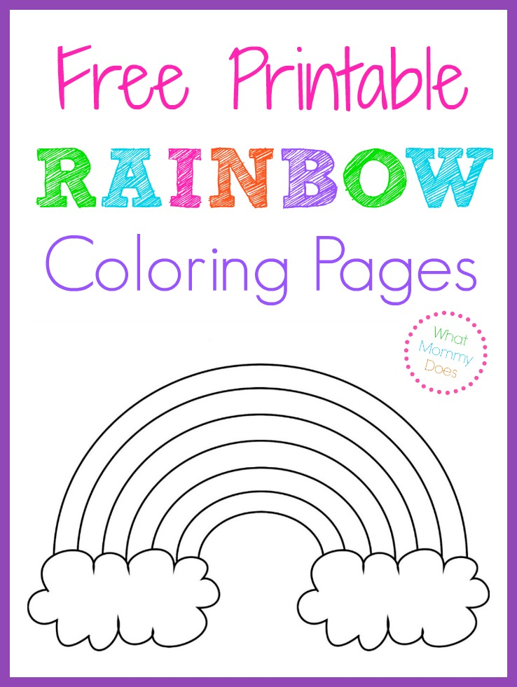 free printable rainbow coloring pages large medium and small rainbow patterns to color - Coloring Book For Kids Free