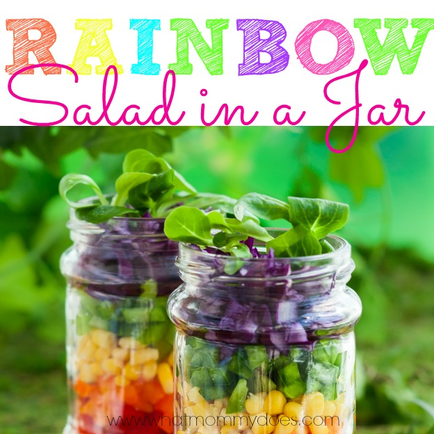 Rainbow Salad in a Jar Facebook