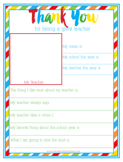 photo about All About My Teacher Free Printable named Preschool Trainer Reward Guidelines - What Mommy Does