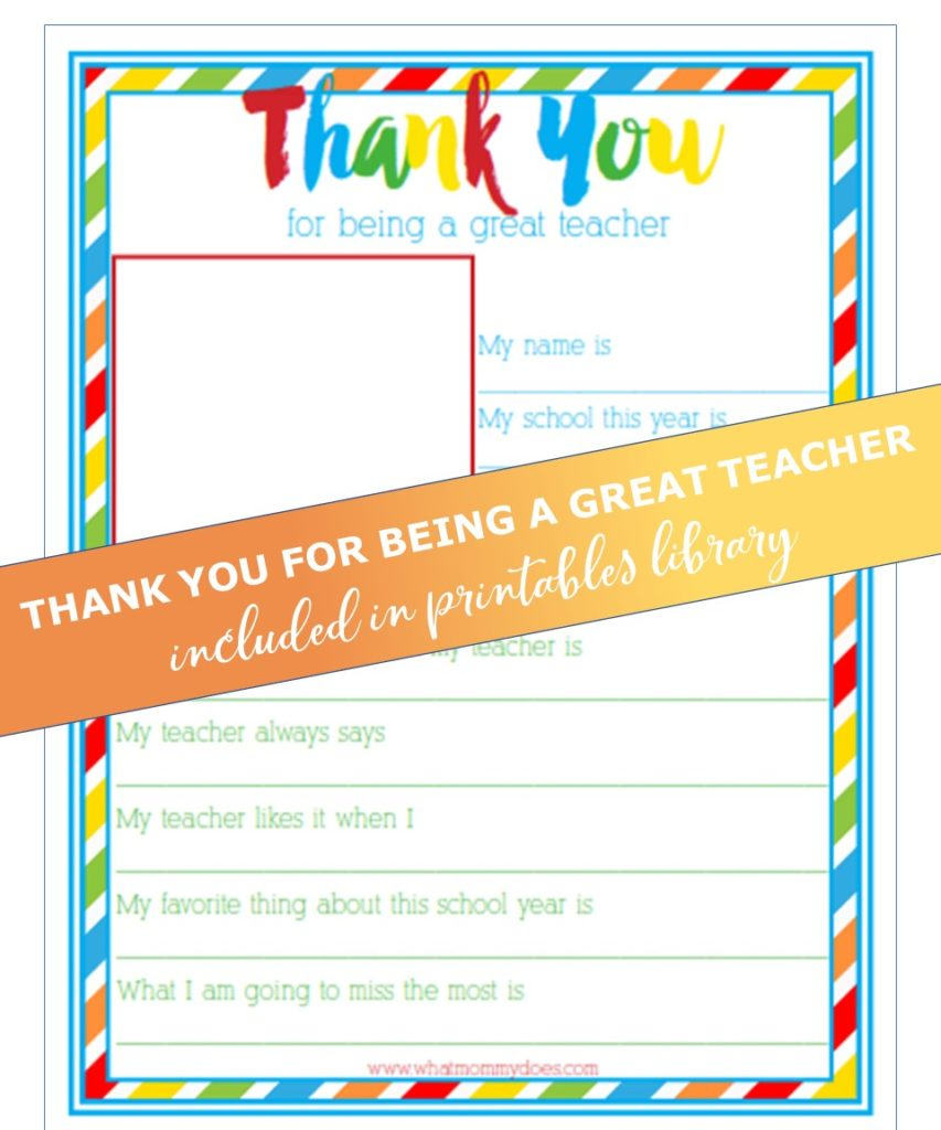 Thank You for Being a Great Teacher download
