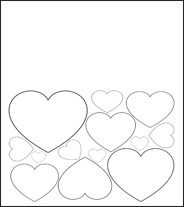 Free Printable Valentines Day Card To Color Heart Pattern on valentines