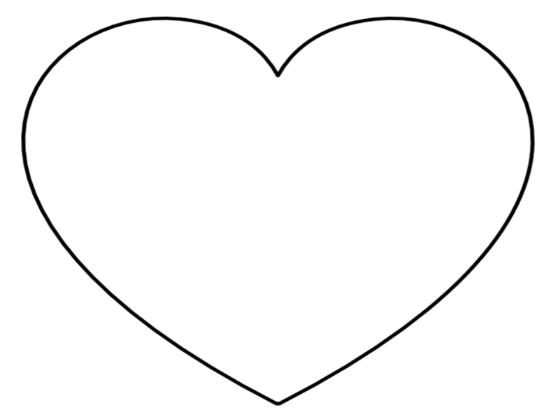 heart writing template