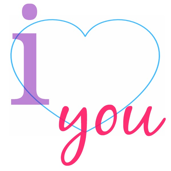 i heart you...a shareable image quote about love to say I LOVE YOU to a special person any day of the year! Perfect for Facebook - grab yours here!
