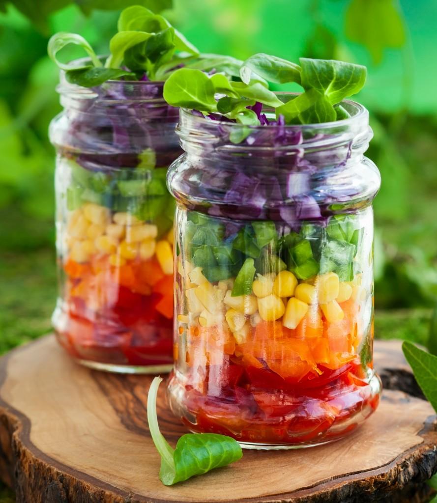 Rainbow Fruit Salad in a Jar