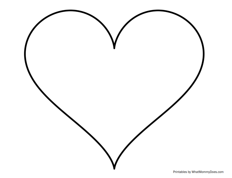 graphic about Printable Hearts Templates known as Tremendous Sized Middle Define - Excess Higher Printable Template
