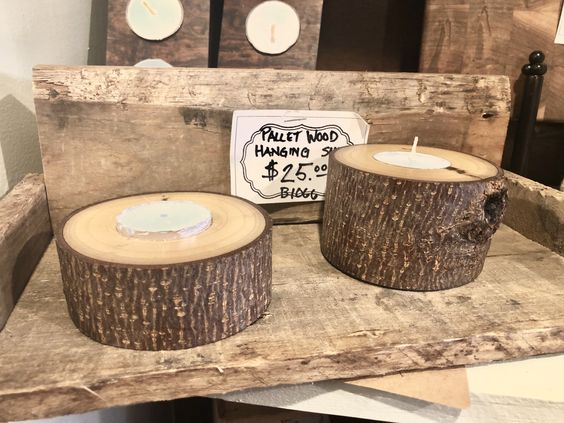 Cute Craft to Make and Sell!...DIY Rustic Wooden Tealight Holder