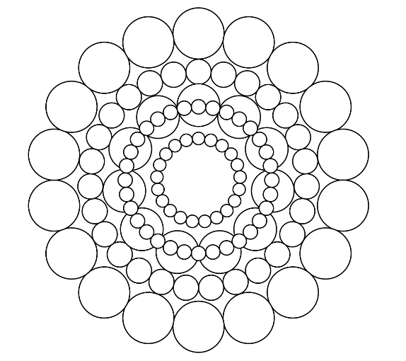 Circles Mandala Coloring Page - What Mommy Does