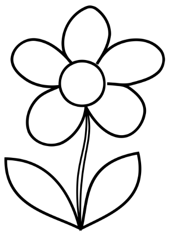 picture about Printable Flowers Pattern named Basic Flower Coloring Web page - Lovable Flower!