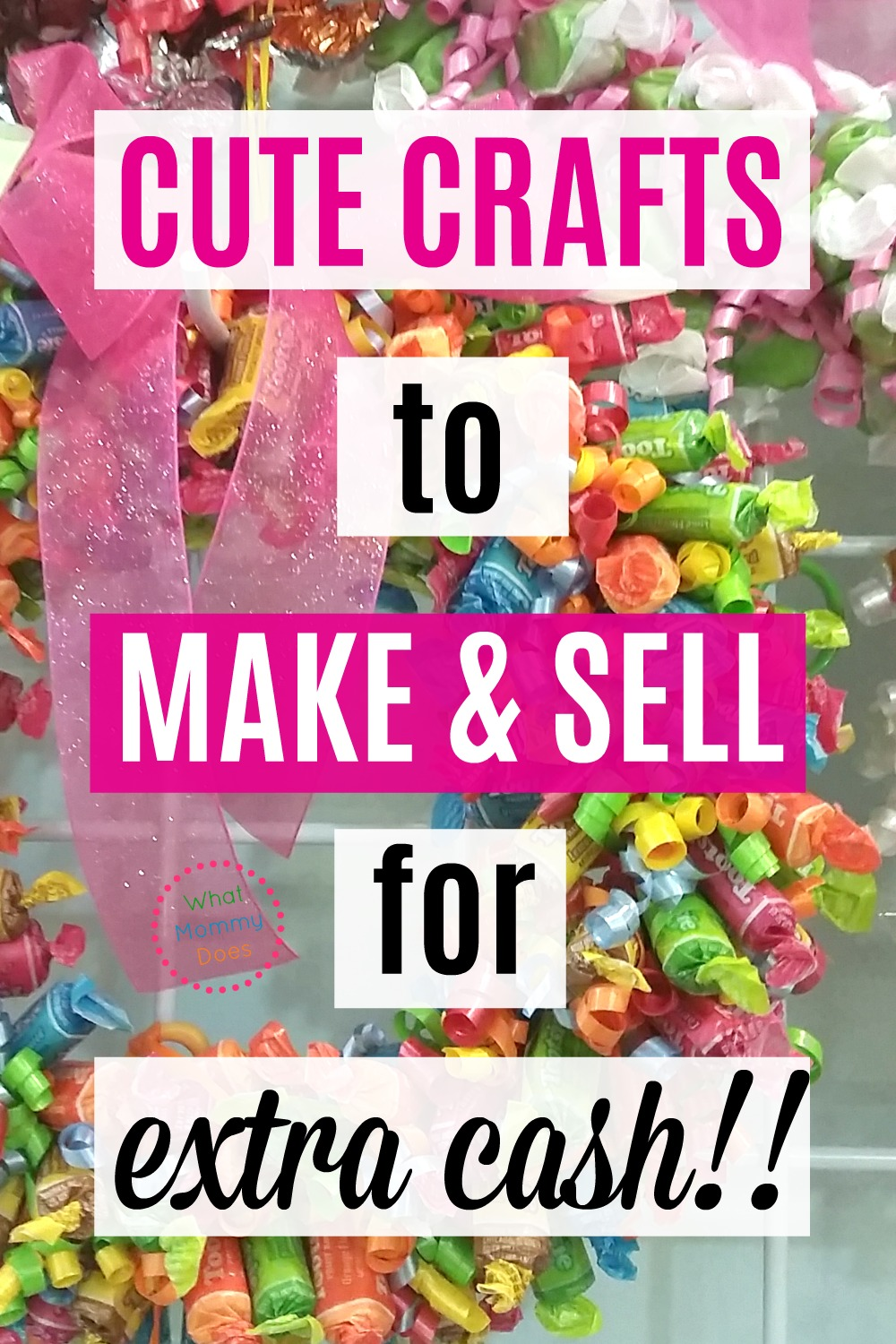 50+ Crafts to Make and Sell at Crafts Fairs and Flea Markets! A great list of things to make and sell…all easy ideas anyone can do, even kids and teens. Part of a series on ways to make extra money from home as a stay-at-home-mom! #money #moneytips #income #extramoney #moneymakingideas #moms #craftideas #makemoneyonline #makemoney #entrepreneur #craftgawker #wreaths #giftideas #gift #crafting #crafterscompanion #DIY #ideas #DIYproject