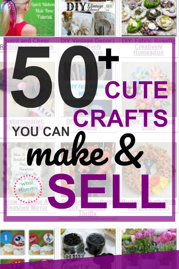 I love gathering ideas of all the easy craft ideas I can make and sell! These would sell so well at flea markets & craft fair! These crafts are perfect for moms who need extra income from home + a fun way for kids and teens to make extra money! | ways to earn extra income from home, stay at home mom job ideas, #extracash #sidegig #mom