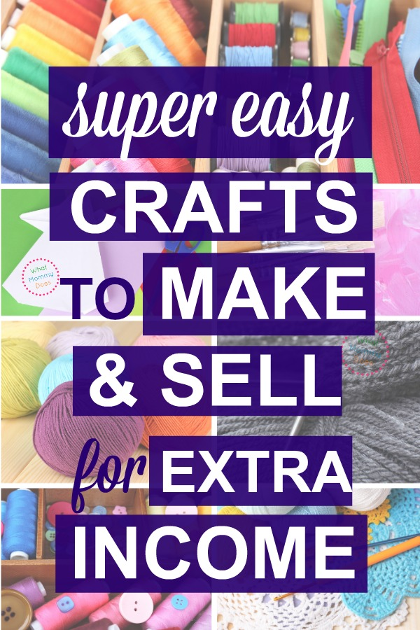 These are cute crafts you can make + sell at craft fairs or flea markets! It's a long list of things to sell…all super simple ideas anyone can do, easy enough for kids & teens. Read this series on ways to make extra money from home as a stay-at-home-mom.