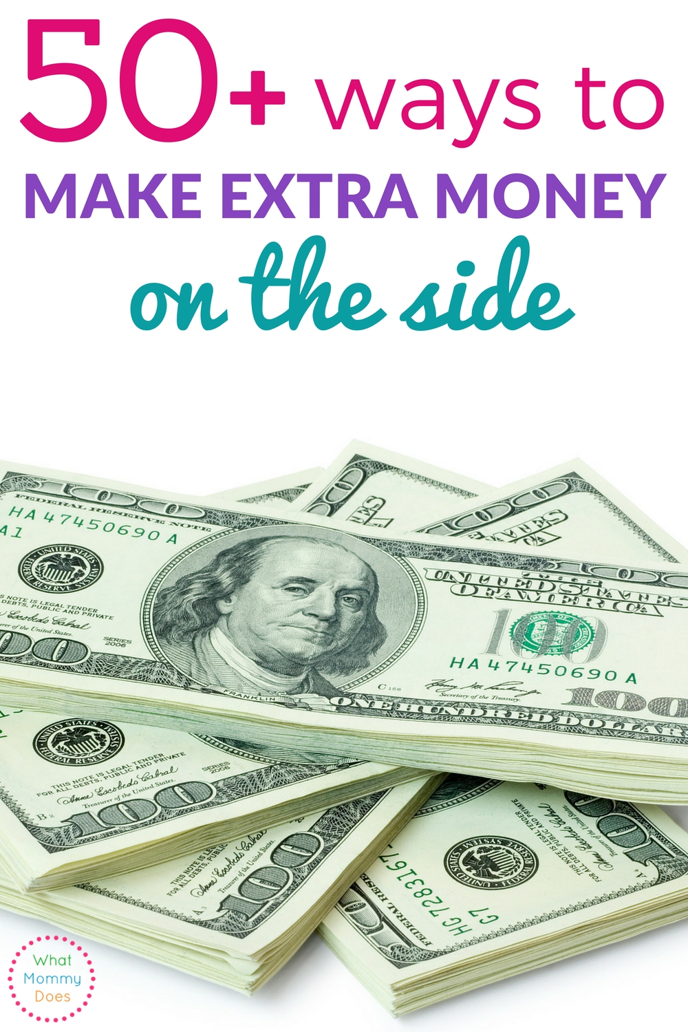 Discover over 50 ideas to make extra money on the side. Many of them allow you to make money from home!