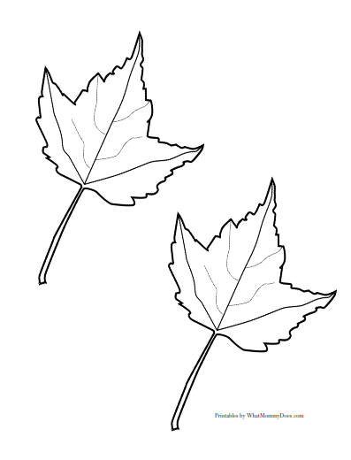 2 medium maple leaf patterns on one page - these leaves are perfect for autumn projects like table runners, decorations, pumpkin templates. Or cross stitch maybe?