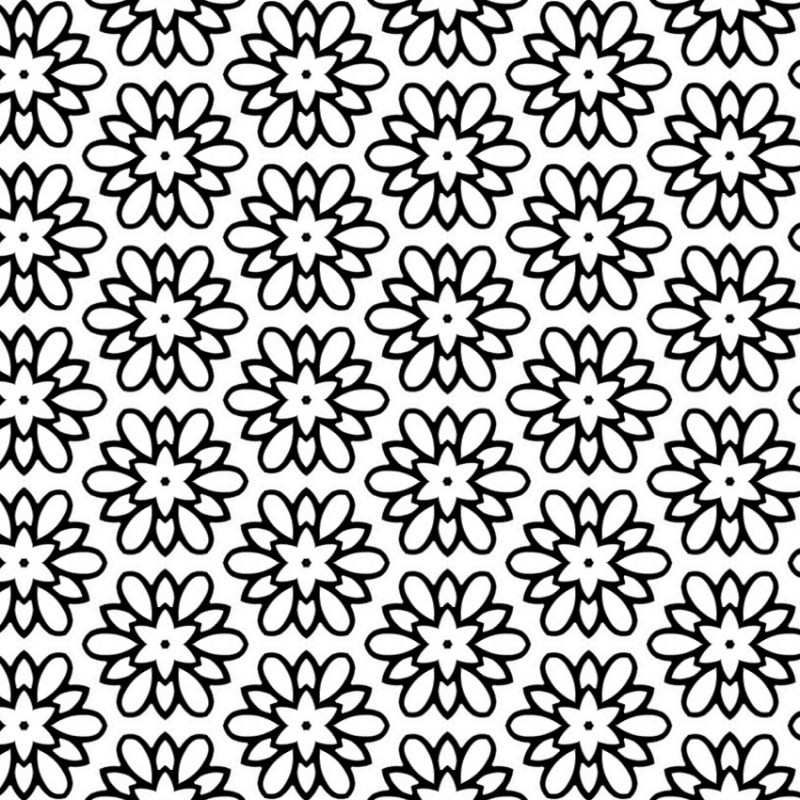 Pretty Coloring Sheet for Adults – Flower Medallion Pattern