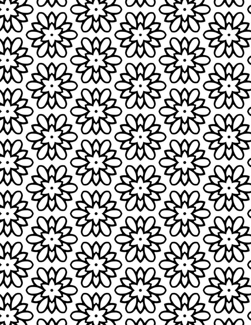Pretty Coloring Sheet for Adults - Flower Medallion Pattern