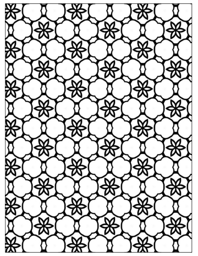 Free Printable Geometric Floral Stars Coloring Page