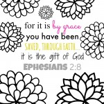 For It Is By Grace Bible Verse Coloring Page & Printables