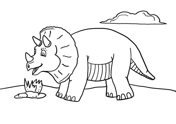 Free Printable Dinosaur Coloring Page - What Mommy Does