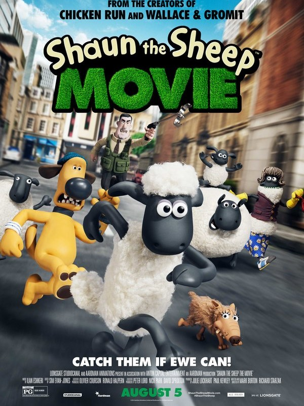 Cute Kids Movie Summer 2015 - Shaun the Sheep Movie!