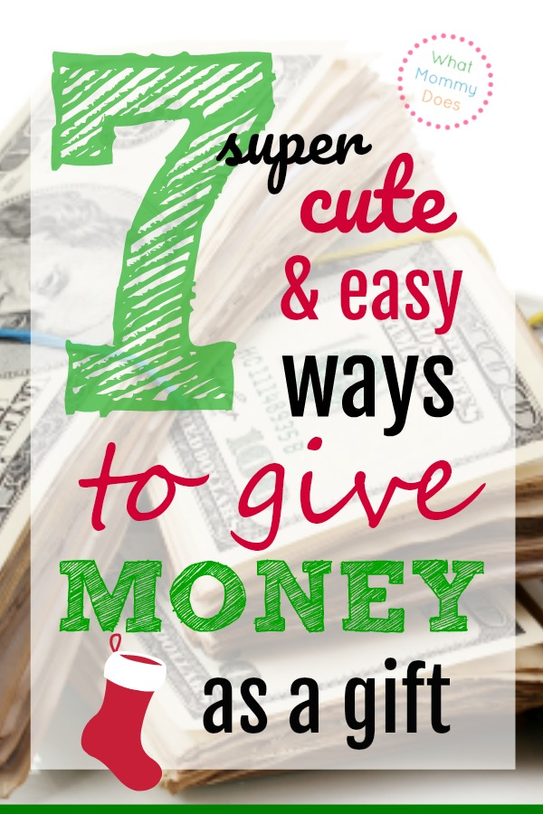 7 creative money gift ideas