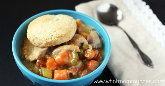 Crockpot Chicken Pot Pie - make your favorite comfort food in the crockpot! My family loves this easy crockpot chicken pot pie, and I guarantee yours will, too