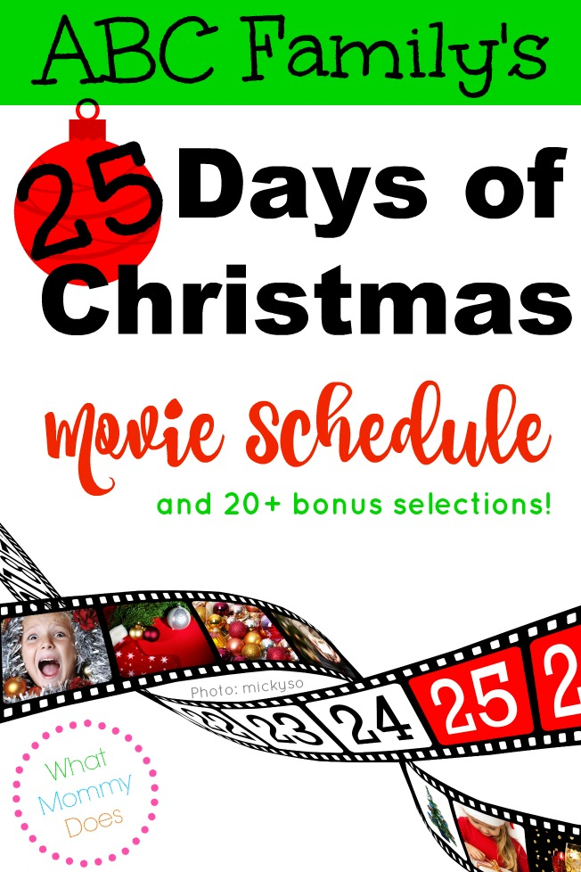 Abc Family 25 Days Of Christmas.Abc Family S 25 Days Of Christmas Movie Schedule What