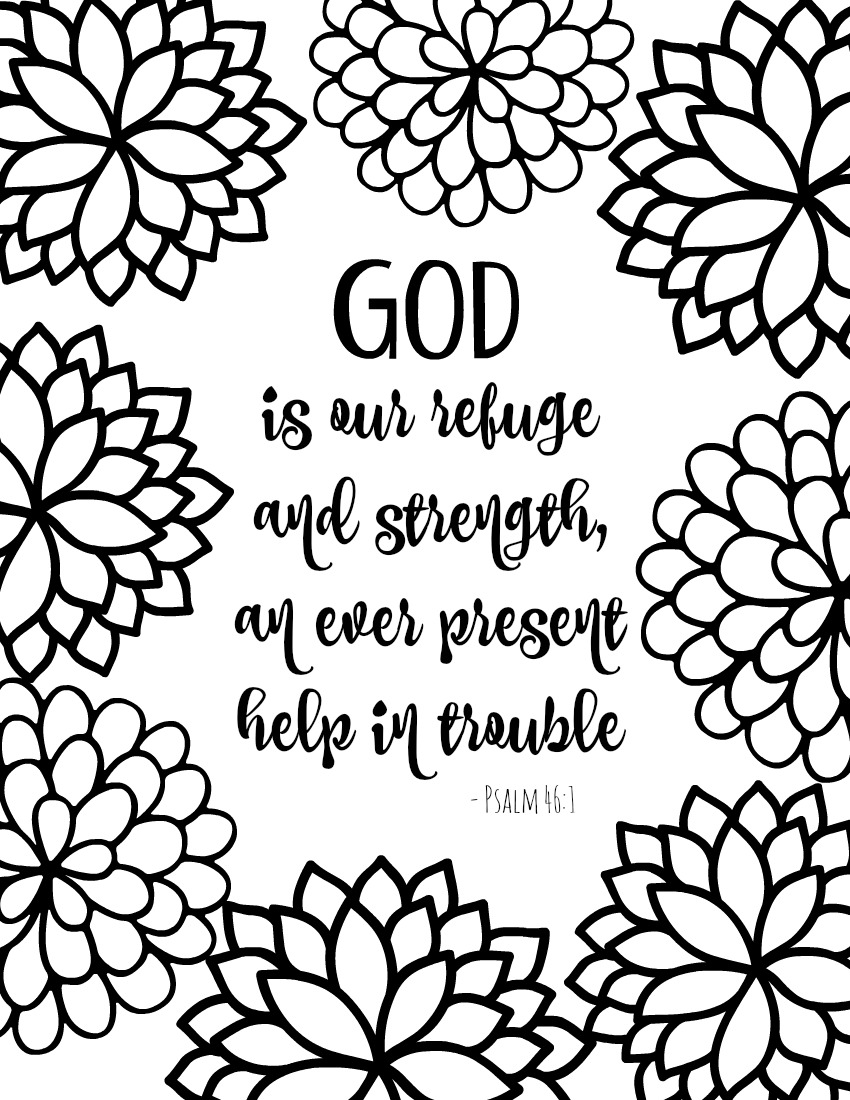 Free Printable Bible Verse Coloring Pages With Bursting