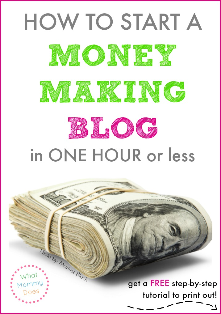 I know at least 50 bloggers who make well over $1,000 per month. One of the best ways to make extra money monthly is with a blog. Grab this free printable tutorial on starting a money making blog the right way and set yourself on a path to earn some money in your free time! You can do it on the side for a little extra cash or devote longer hours for a full time income - it's really up to you.