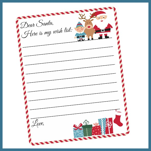 photograph about Free Printable Letter From Santa Template titled Cost-free Printable Letter in direction of Santa Template ~ Lovely Xmas