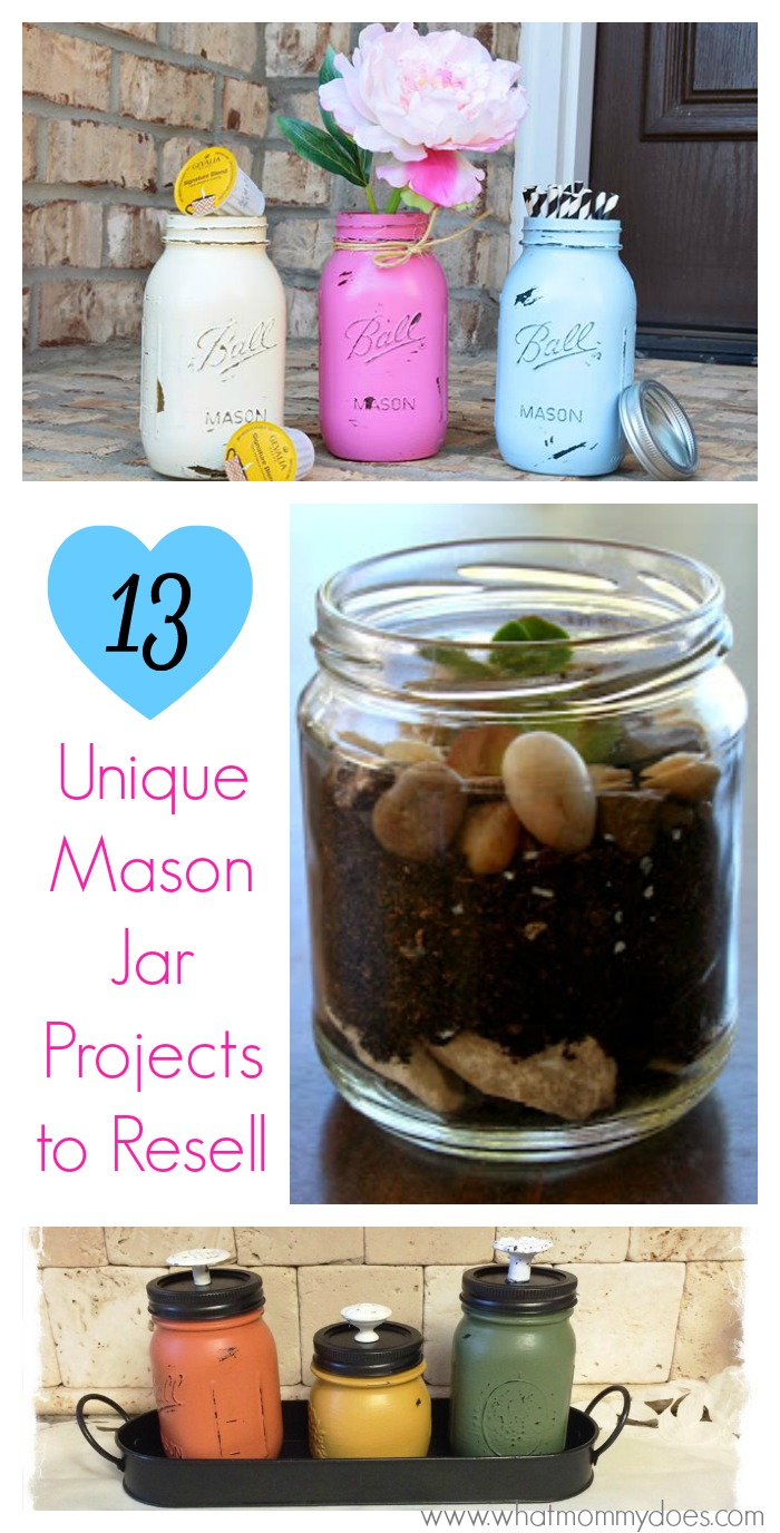 unique mason jar projects to resell