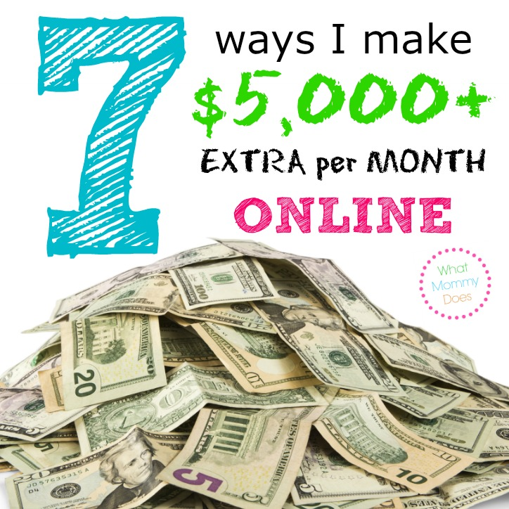 $5,000 EXTRA INCOME EXAMPLE - This is a breakdown of how I make extra money online every month with my blog. All the signs are pointing to now being a great time to start a blog or internet business! This has links to ideas & products that moms can promote online to earn extra cash on the side. Working at home sure beats going to work everyday at an office & I get to stay at home with my kids. :)