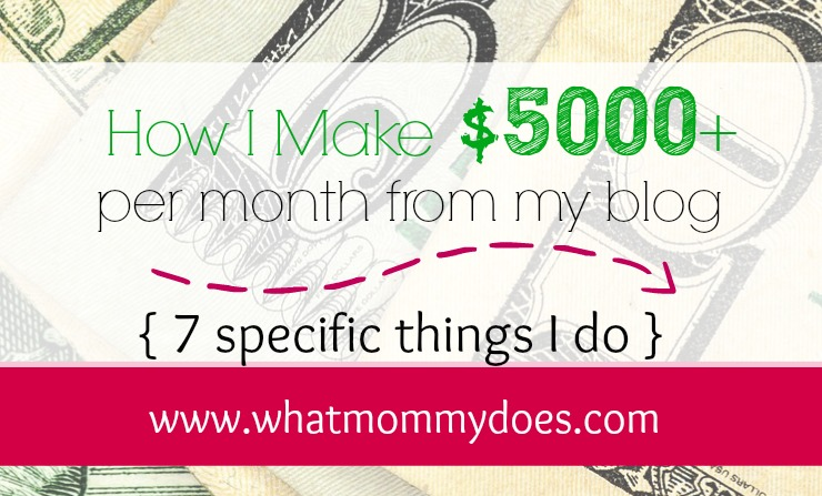 Friends always ask me how I am able to make extra money from home with my blog. Here's a look at 7 specific ways I earn extra cash online while still being a SAHM to my 3 little kids.
